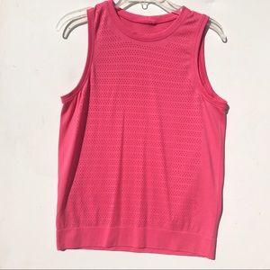 Lululemon pink mesh muscle tee 6 top shirt